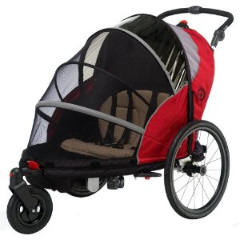 Schwinn Joyrider Bicycle Trailer Stroller Combo 13-PR150 Red and Gray